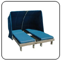 Complete Beach Cabanas Wooden Chaise Lounge Cushions