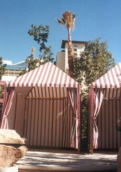 Portable Beach Cabanas : Flamingo poolside beach cabanas